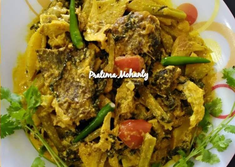 Malabar Spinach Fish Head Curry