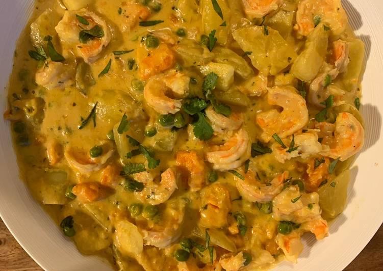 Comment Servir Curry de crevettes au lait de coco 🇹🇭