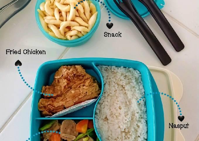 Nasi Bekal Bento (Blue Box)