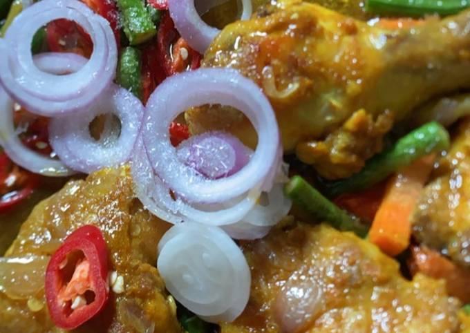 Ayam masak halia senang sedap!