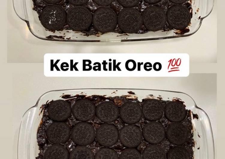 Resepi:  Kek Batik Toppings Oreo  Dirumah