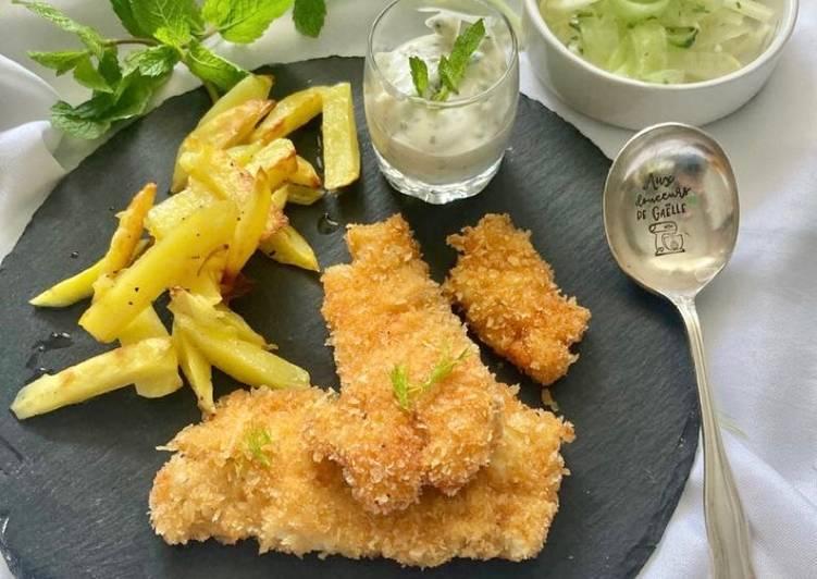 Recette Parfait Fish & chips et salade de fenouil