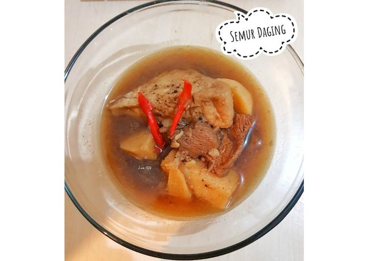 "Semur Daging (Ala Anak Kost, Bumbu Instan Mode ""ON"")"