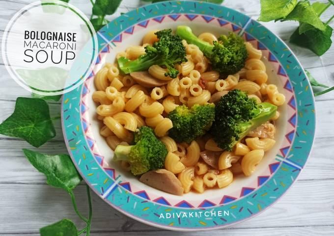 Langkah Mudah untuk Menyiapkan Bolognaise macaroni soup Anti Gagal