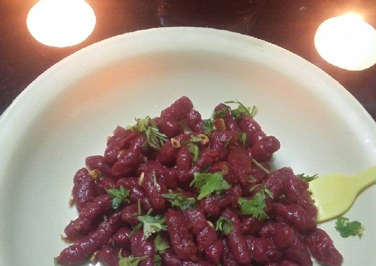 Step-by-Step Guide to Make Homemade Beet Gnocchi(pasta)