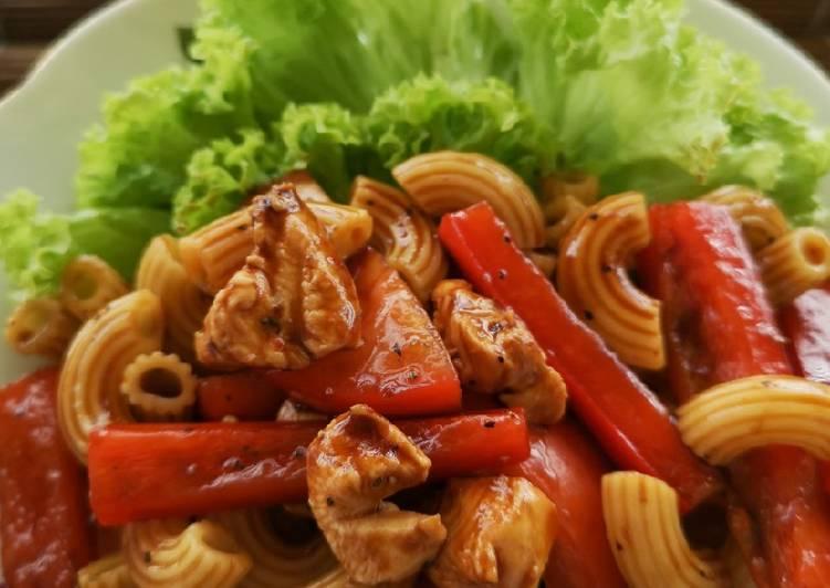 Salad Macaroni & Ayam Mudah - velavinkabakery.com
