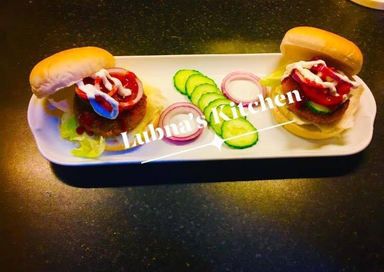 Steps to Make Super Quick Homemade Potato Burger:  (Aloo tikki burger:)