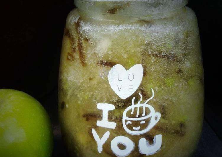 Jus saleri epal hijau/cincau - resepipouler.com