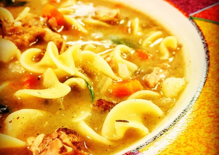 Cilantro Lime Chicken Noodle Soup