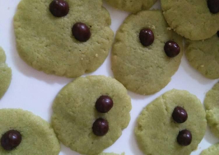 Alien Greentea Cookies (Crunchy tapi lembut)