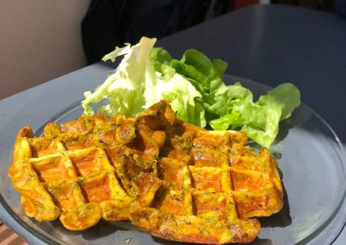 Gaufre sale patate douce épinards Health