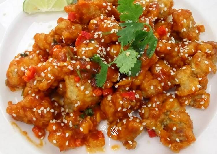 Ayam Goreng Pedas Ala Korea Spicy chicken