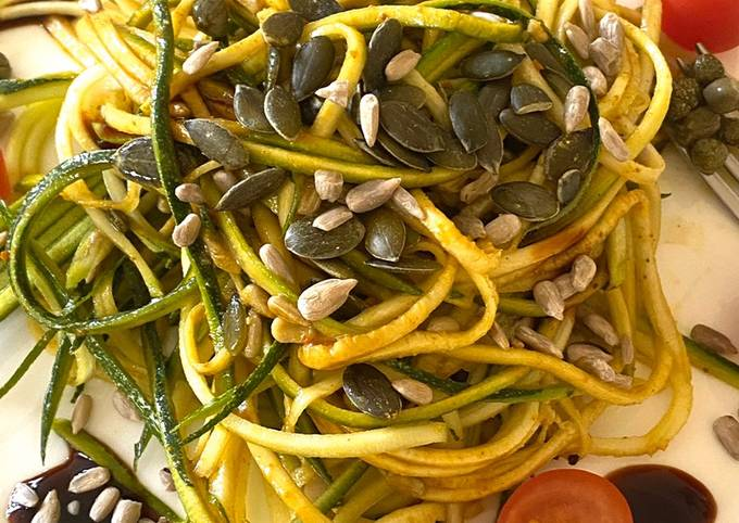 Healthy courgette salad