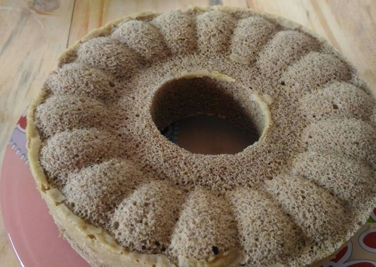 Coffee chiffon cake super simple