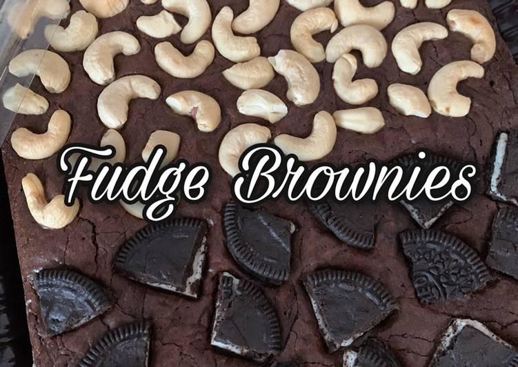 Fudge Brownies 🍰 Shining Crust - Easy steps