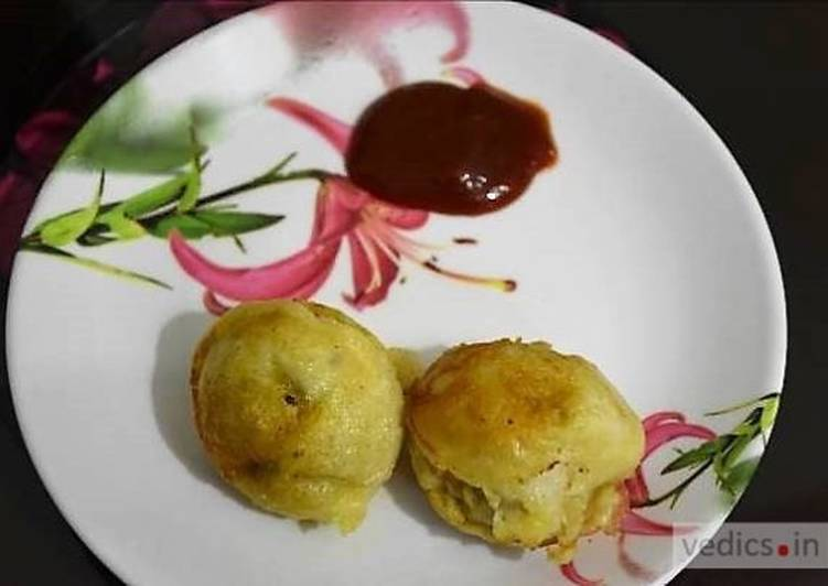 Soya chunks and potato filled appam recipe
