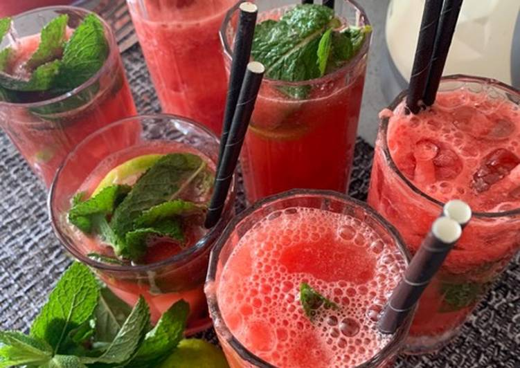Watermelon Elderflower Lemonade