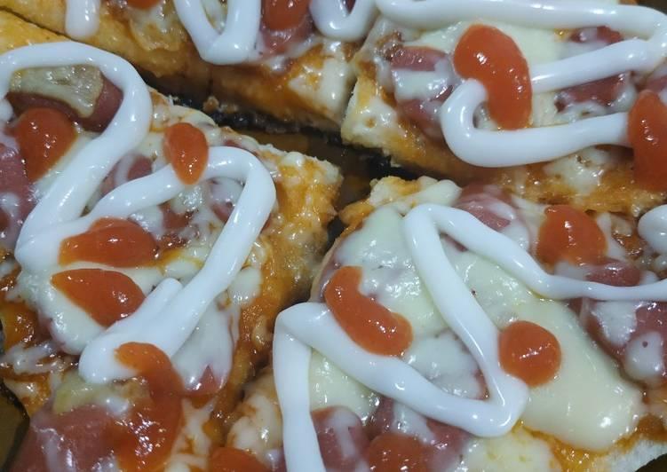 Pizza Teflon dari Roti Tawar