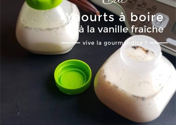 Yaourts à boire à la vanille fraîche