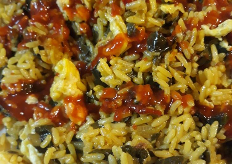 Yellow Rice, Collard Stirfry