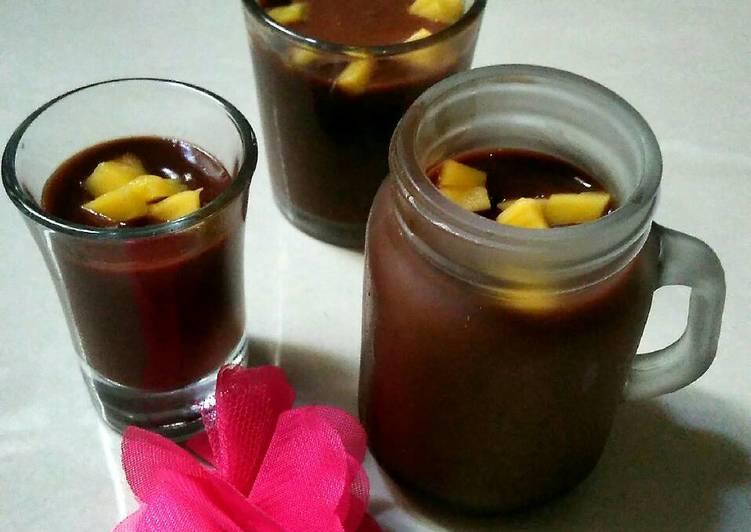 Silky puding smooth coklat milk