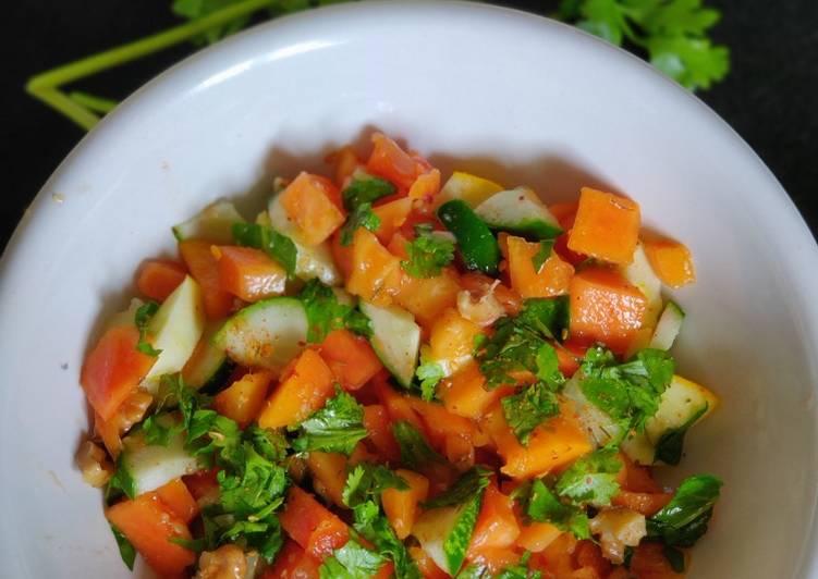 Easiest Way to Make Perfect Papaya cucumber tangy salad