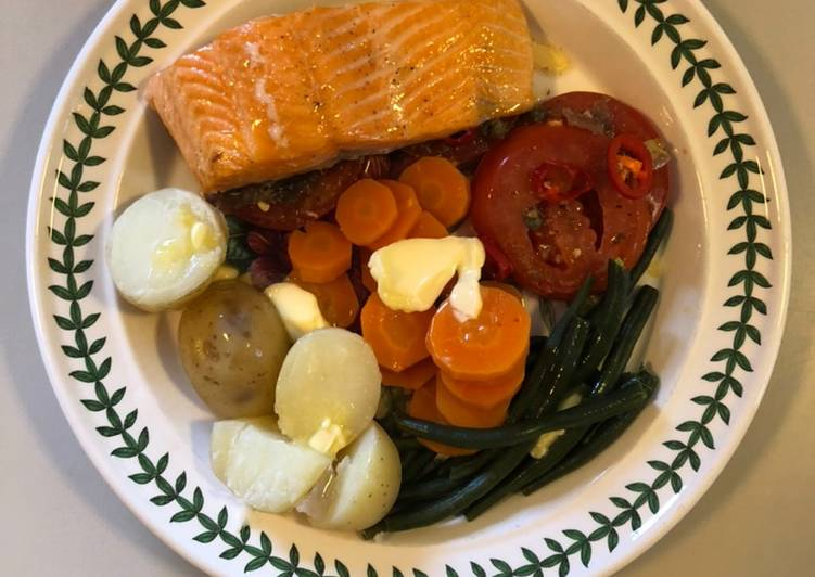 Baked Trout Fillets with Mirin