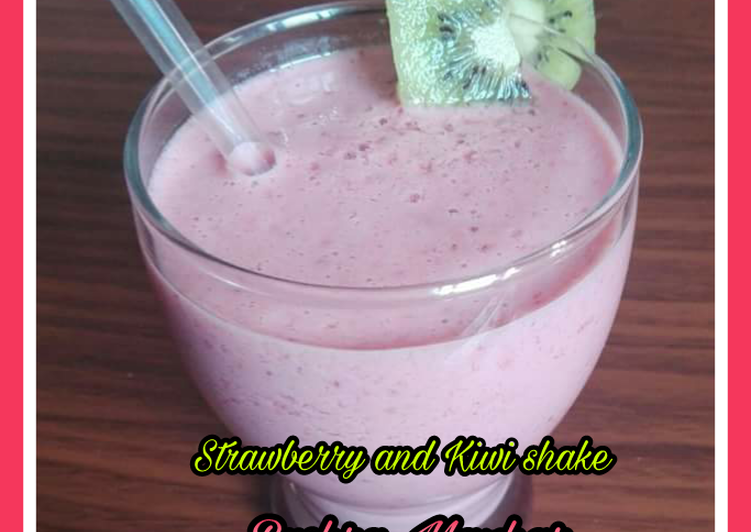 Recipe of Super Quick Homemade Strawberry and Kiwi Shake