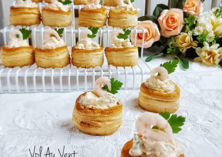 Cara mudah membuat Vol Au Vent Shrimp & Cheese