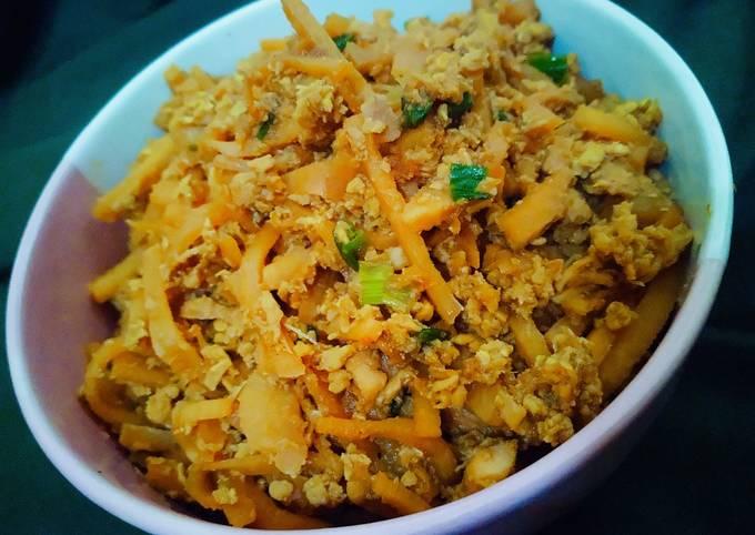 Rebung isian lumpia Semarang (menu diet)