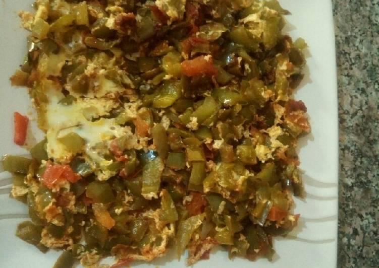 Recette: Poivron omlette