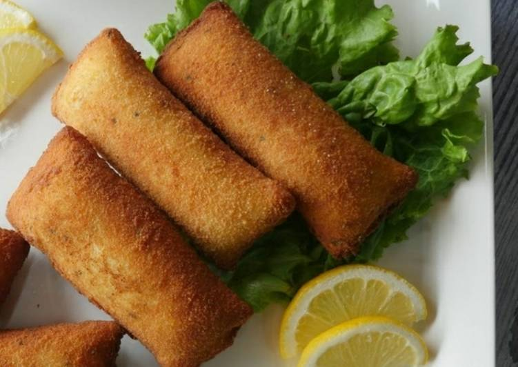 Chicken cheese bread roll