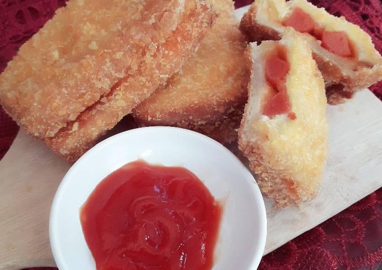 Roti Sosis Goreng