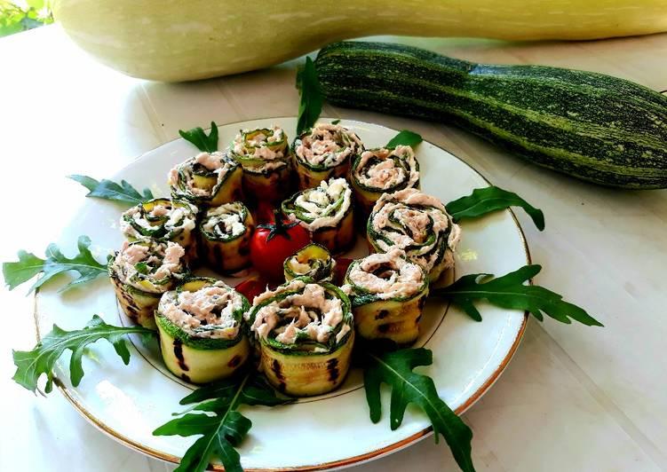 Rotolini di zucchina con farcia di tonno