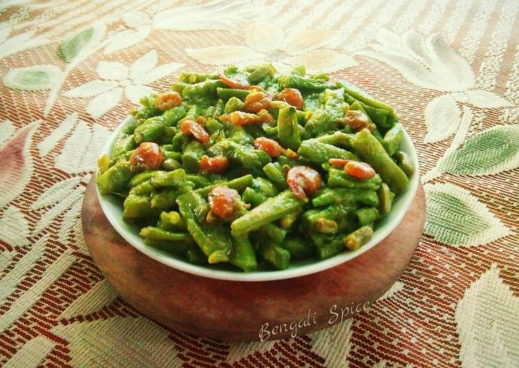 Recipe of Perfect Shrimp with Green Beans Stir Fry