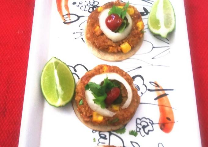 Mexican Oats and Bean Patties