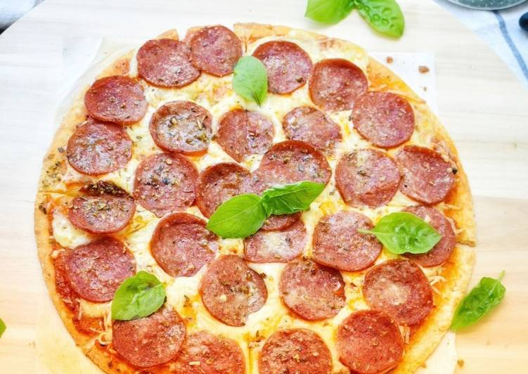 Resepi: Crispy Pepperoni PIZZA  Dirumah