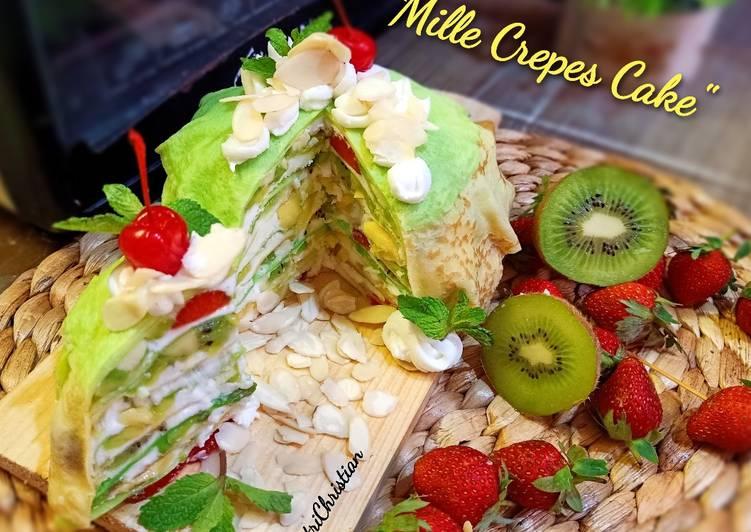 Resep Mille Crepes Cake Oleh Putrichristian Cookpad