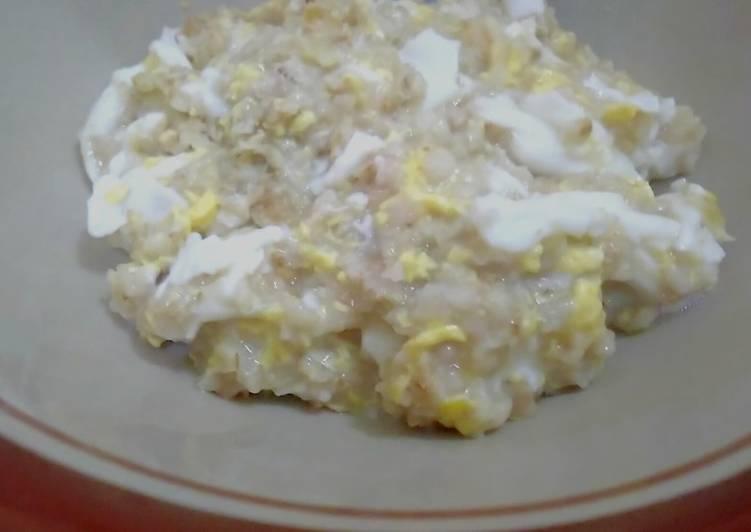 Bubur Oat Telur