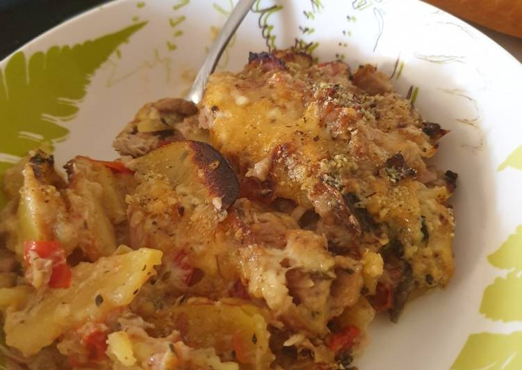 Recipe of Ultimate Tasty All in potato gratin