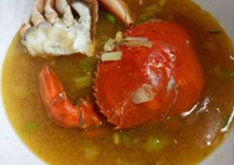 Soup kepiting praktis dan mudah