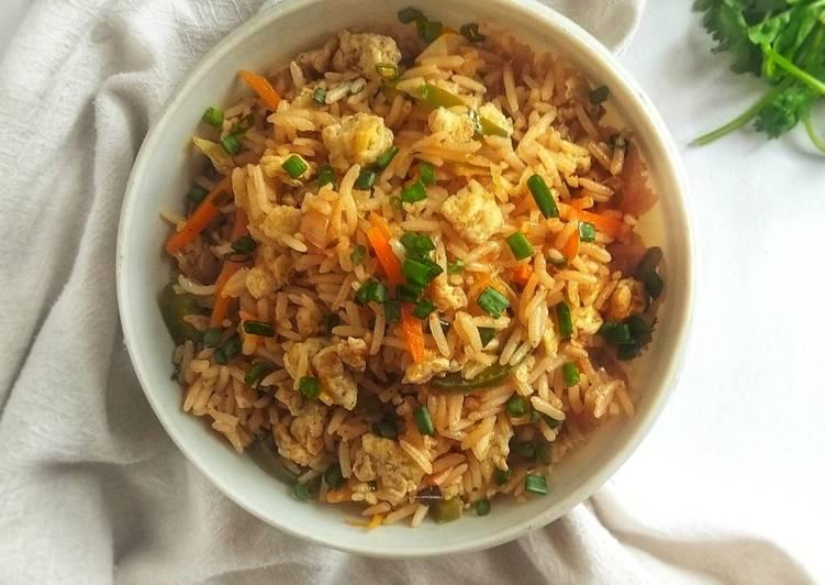 Scrambled Egg Fried Rice               Indo-Chinese Style