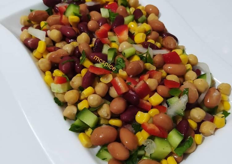 Mixed bean salad (Mexican)