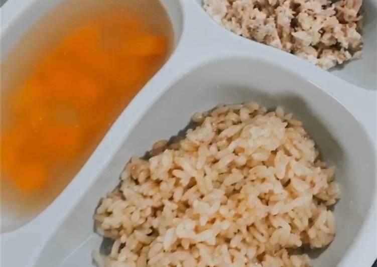 Nasi hainam ayam rumahan  (untuk anak 1 tahun ke atas)