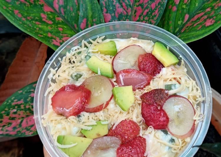 Saus salad buah simple Bý Herlina Wijayanti