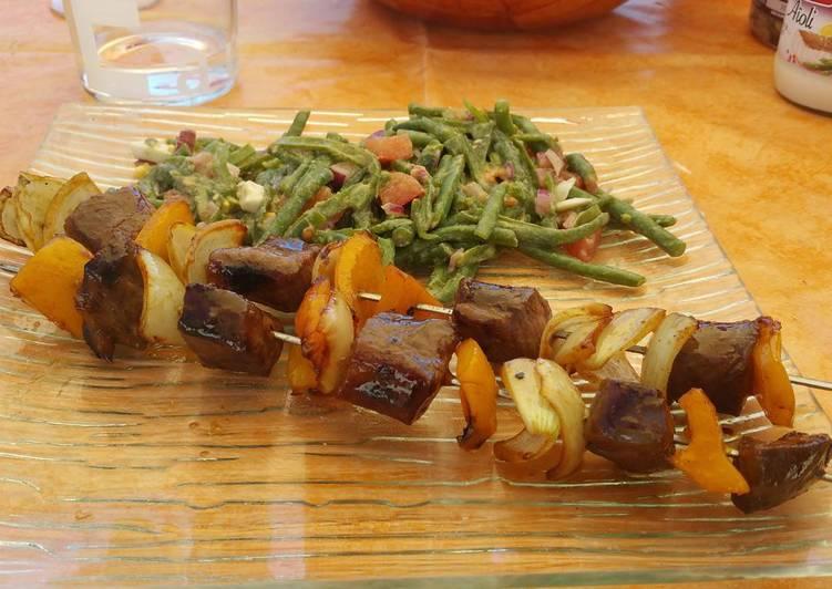 Le moyen le plus simple de Préparer Délicieuse Brochettes de magret canard et poivron jaune