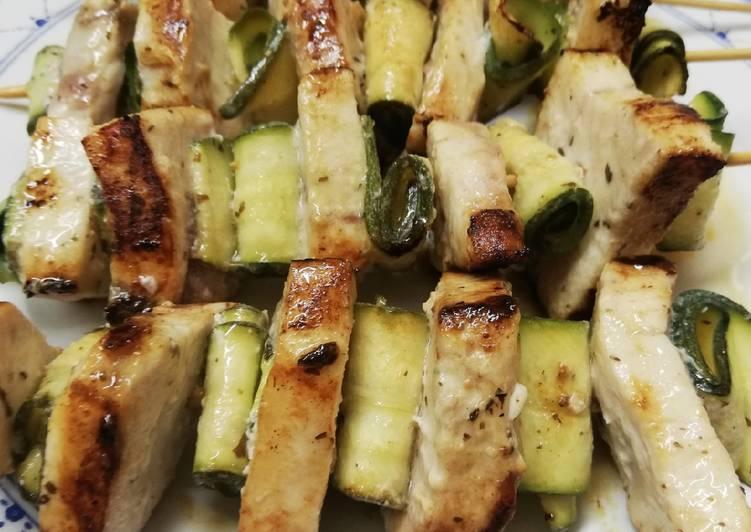 Ricetta Spiedini di pesce spada e zucchine