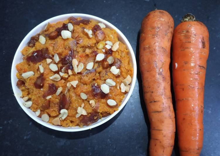Simple Way to Prepare Ultimate Carrot & Dates Halwa