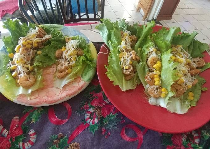Shrimp Lettuce Tacos