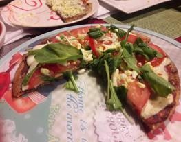 Masa de pizza vegana de zanahoria y quinoa/ espinaca y quinoa